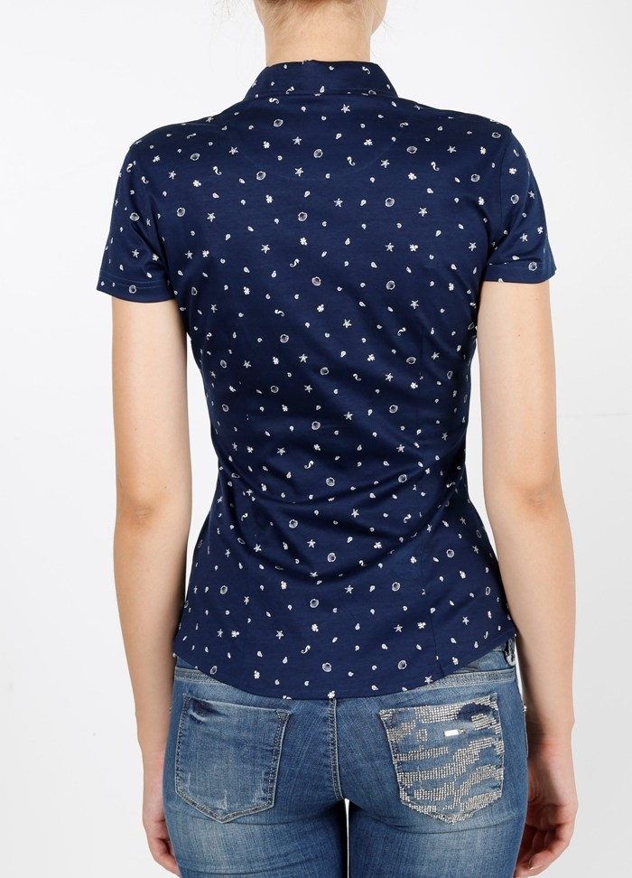 Рубашка жен. арт.15397 SHIRT NAVY BLUE BATT