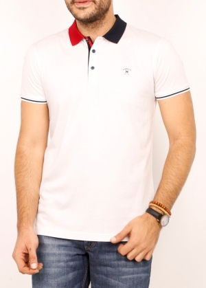Футболка муж. арт.19627 POLO T-SHIRT WHITE BATT