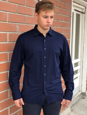 Рубашка муж. арт.16244 SHIRT BATT NAVY BLUE