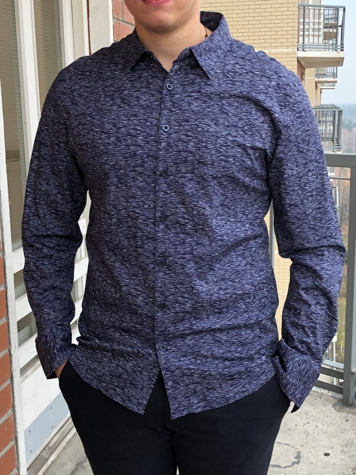 Рубашка муж. арт.16322 SHIRT BATT NAVY BLUE