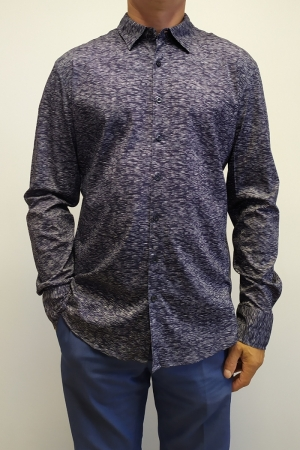 Рубашка муж. арт.16322 SHIRT NAVY BLUE