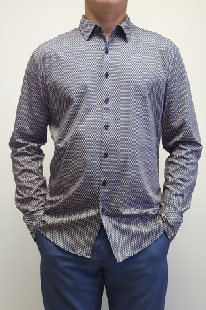 Рубашка муж. арт.16313 SHIRT NAVY BLUE