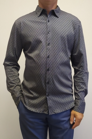 Рубашка муж. арт.16303 SHIRT BATT NAVY BLUE
