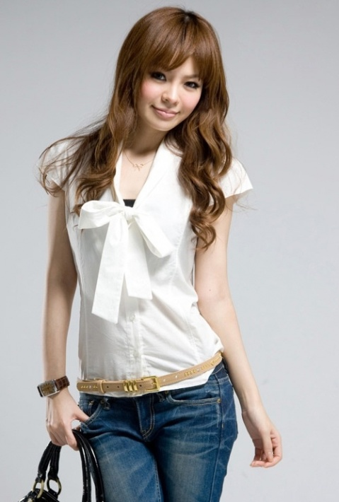 Фасоны белых блузок доставка