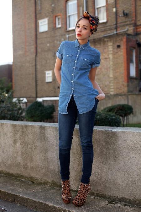 джинсы с рубашкой фото